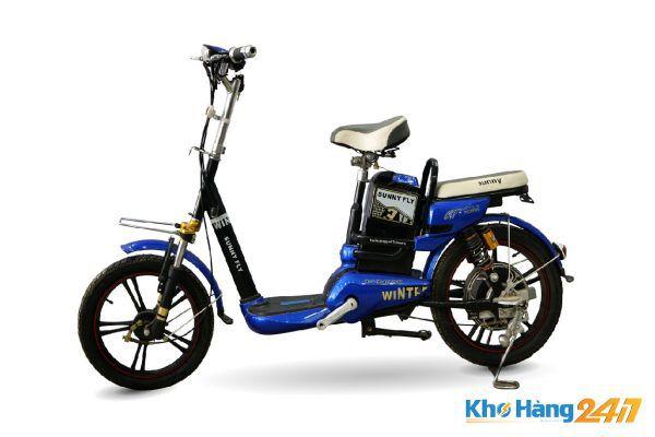 xe dap dien sunny fly cu 02 600x400 - Xe đạp điện Sunny Fly xanh củ