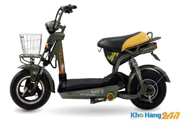 xe dap dien jili xanh cu ct 02 600x400 - Xe đạp điện Jili củ - Màu xanh