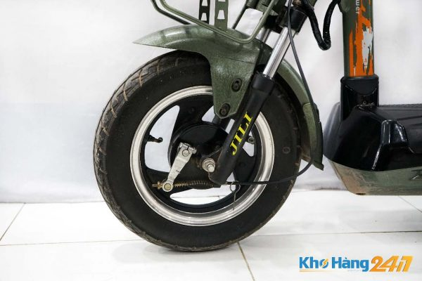 xe dap dien jili xanh cu ct 03 600x400 - Xe đạp điện Jili củ - Màu xanh